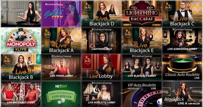 казино с живыми дилерами